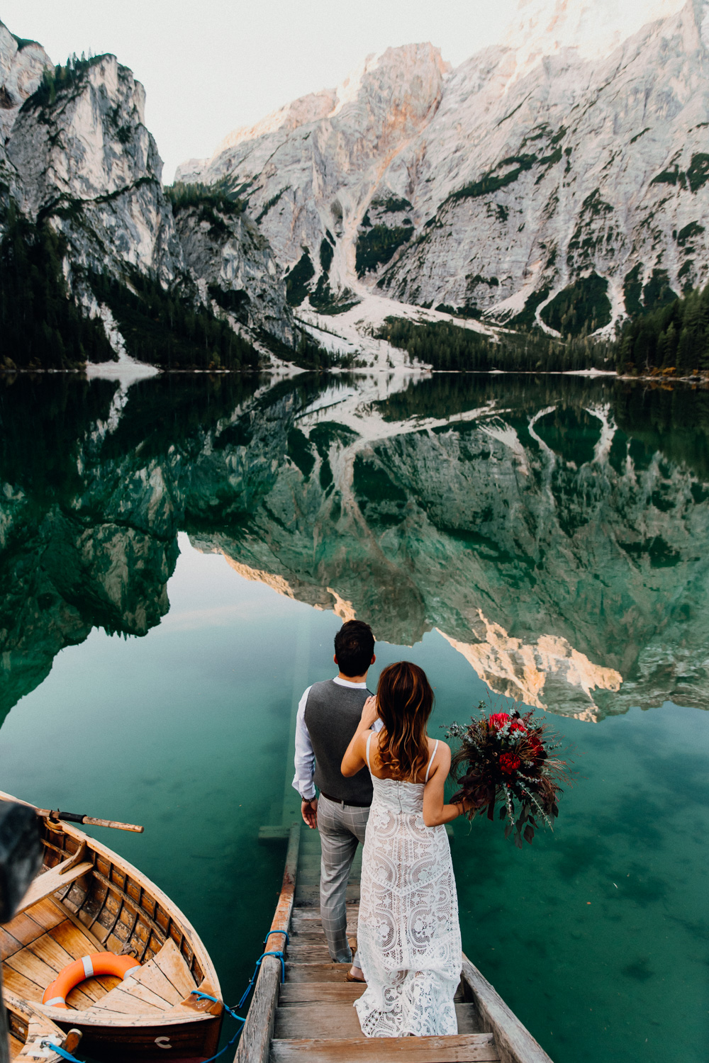 Lago Di Braies Wedding Photographer 30